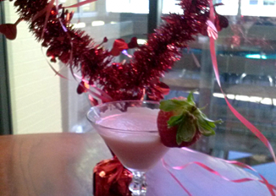 Strawberry Godiva Martini