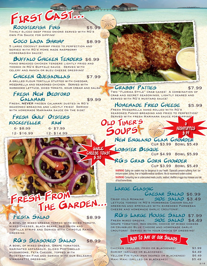 lunch-menu-rooster-fish-grill-largo-florida