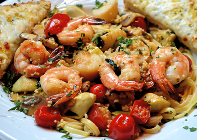 Pasta Bowl w/Shrimp